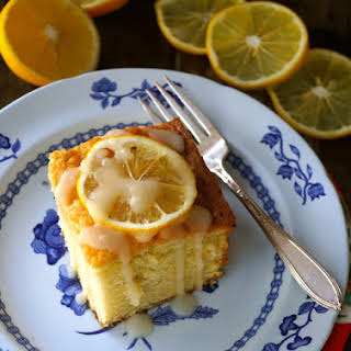 Meyer Lemon-Vanilla Hot Milk Cake.