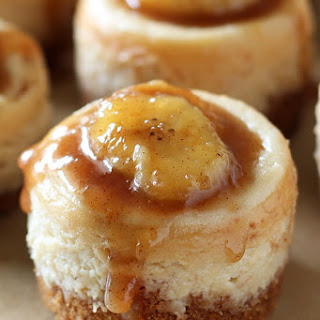 Mini Bananas Foster Cheesecakes