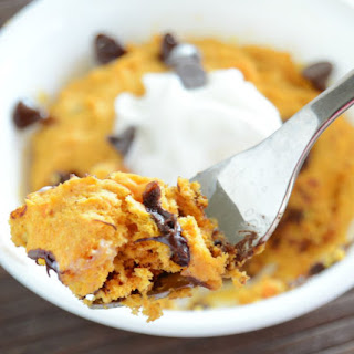 Easy Pumpkin Cake for One.