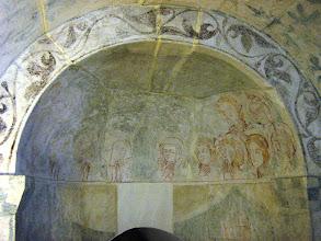 Photo: Martinskirche Neckartailfingen: Nördliche Seitenapsis, früher Nikolaus-Kapelle: Ausgießung des Heiligen Geistes (um 1300)