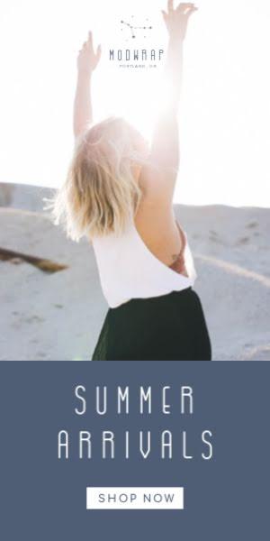 Modwrap Summer Arrivals - Half Page Ad Template