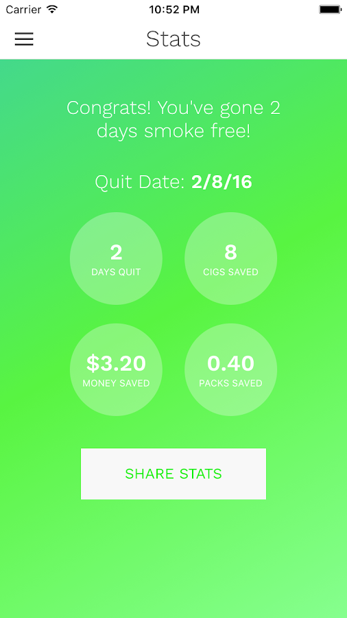 CigQuit - Quit Smoking- screenshot