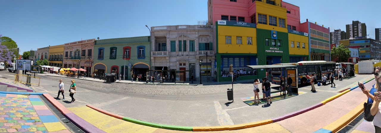Panorama of street in La Boca