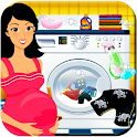 Pregnant Mommy Laundry - Clothes Washing Games icon