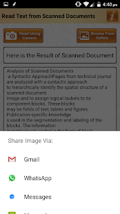 Read Text of Scanned Documents - náhled