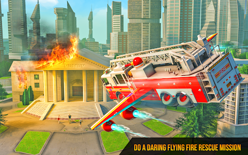 Flying Firefighter Truck Transform Robot Games 5