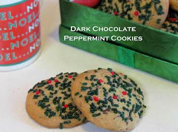 Dark Chocolate Peppermint Cookies