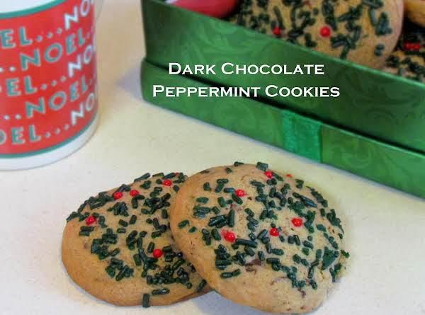Dark Chocolate Peppermint Cookies Recipe