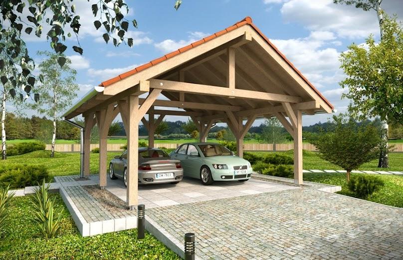 Wiata garażowa świetnie sprawdzi się w ochronie samochodu przed opadami