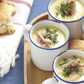 Hearty Pea and Ham Soup.