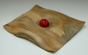 "Photo: Clif Poodry - sycamore ""wave form with ball"" - ~7"" x 7"""