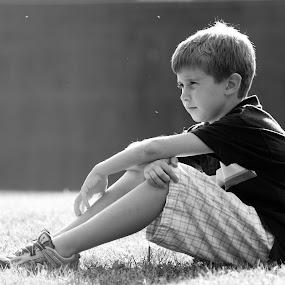 Joey by Bill  Brokaw - Babies & Children Child Portraits ( black and white, family, boys, children, portrait )