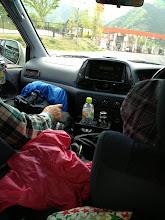 Photo: 八ヶ岳に向かって運転中。