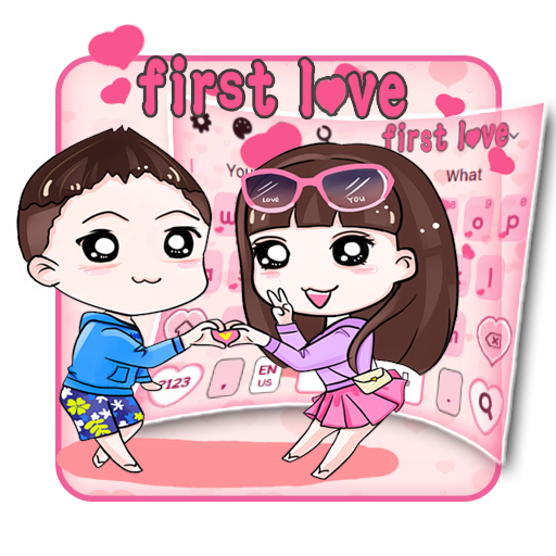 First Love Gravity Keyboard Theme