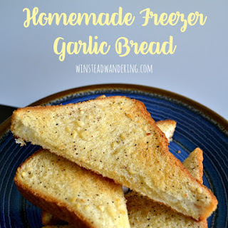Homemade Freezer Garlic Bread.