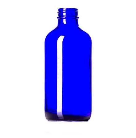Glasflaska 100 ml - blå