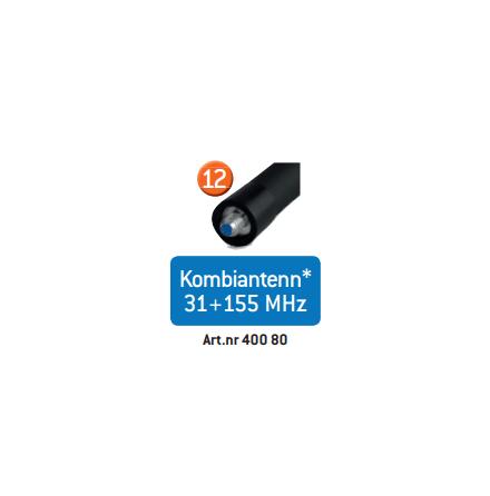 Zodiac Skogsantenn Kombi 31+155 MHz Zodiac One