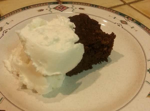 Cornbread Brownie With Greek Yogurt.