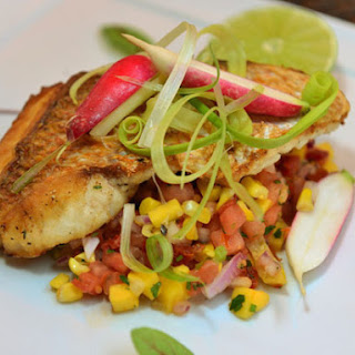 American Red Snapper with Grilled Corn and Mango Salad