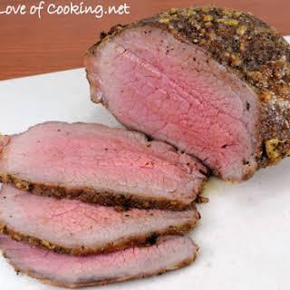 Garlic Crusted Roast Beef.