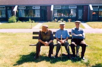 Photo: v.l.n.r. Jans Hilberts, Evert Dontje en Jan Sloots Naweg