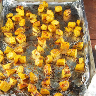 Roasted Golden Beets with Rosemary and Garlic.