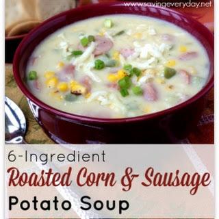 6-Ingredient Roasted Corn & Sausage Soup