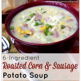 6-Ingredient Roasted Corn & Sausage Soup.