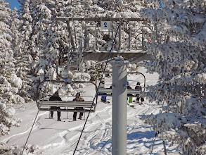 Photo: Ambiance télésiège en hiver à Chamrousse
