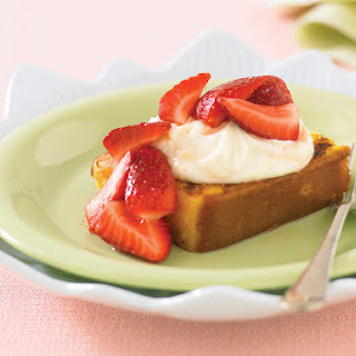 Grilled Pound Cake with Berries.