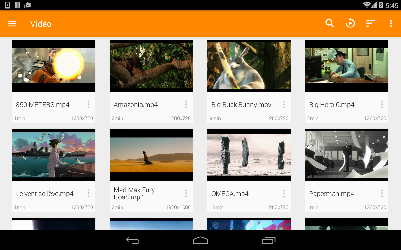 VLC for Android: captura de pantalla