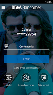 Bancomer móvil Screenshot 1