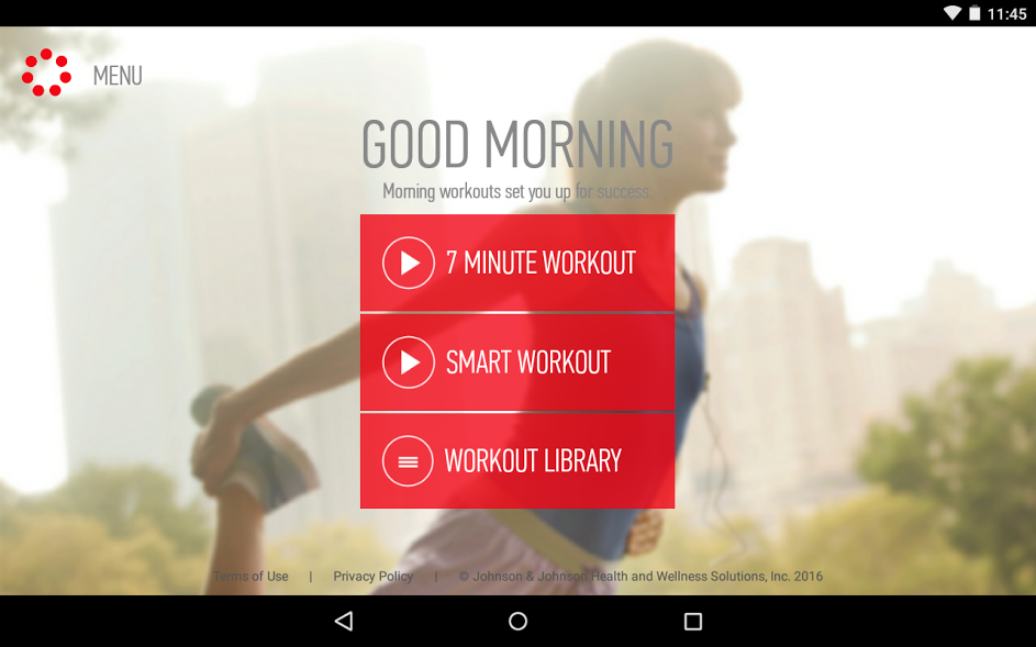 J&J Official 7 Minute Workout – Screenshot
