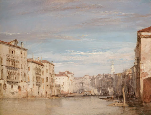 The Grand Canal, Venice, Looking Toward the Rialto - Richard Parkes Bonington - Google Cultural Institute