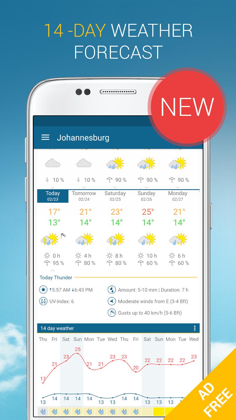 Weather & Radar Pro - Ad-Free Screenshot 1