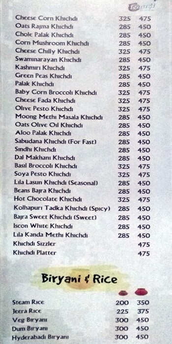 Khichdi The Global Food menu 6