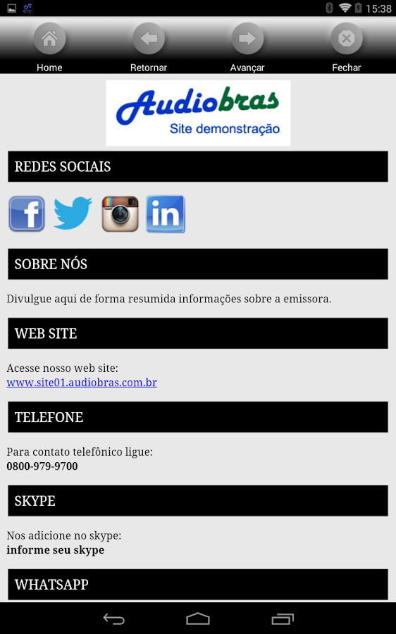 AudioBras - APP para Rádios- screenshot