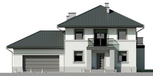 Dom przy Diamentowej - Elewacja przednia