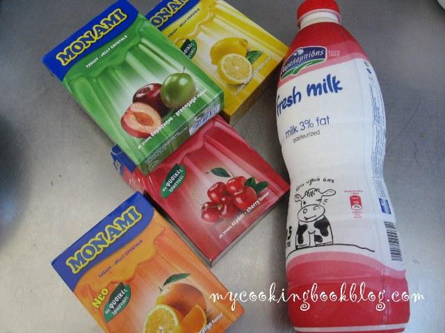 Желе с прясно мляко