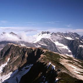 Summit View by Rev Marc Baisden - Landscapes Mountains & Hills ( northwest cascades, climbing, mountains, adventure, travel )