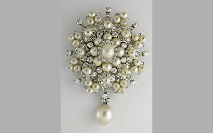 Cartier pearl-and-diamond brooch, sold in 2010.