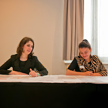 Photo: Ilaria Volpe Equinet Policy Officer Gender Equality and Vasiliki Gkesouli Equinet Trainee