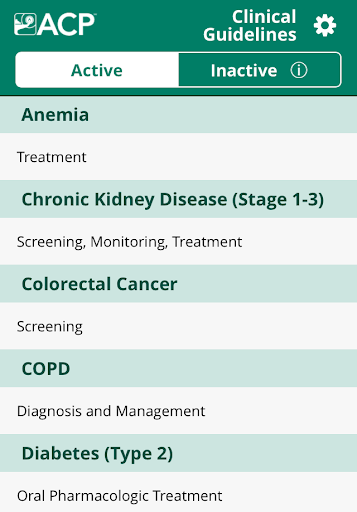 ACP Clinical Guidelines 3.0.4 screenshots 1