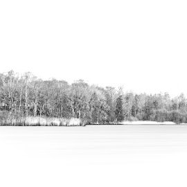 Minimalism by Peter Ljungberg - Landscapes Waterscapes ( white, light, black and white, water, graphic )