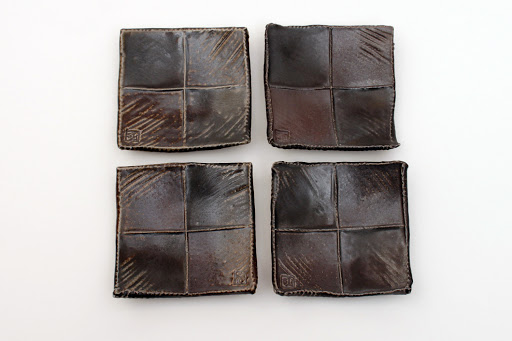 Sandy Lockwood Set of 4 Small Square Ceramic Dishes