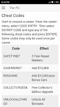 Cheat codes for need for speed pro street pc.