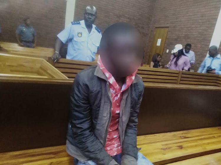 """Sibusiso Khoza"" during an earlier appearance in the Protea Magistrate's Court."