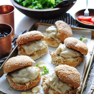 Slow Cooker Ranch Chicken and Swiss Sandwiches