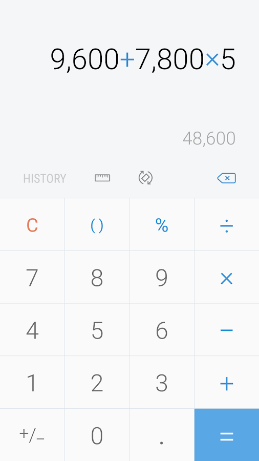 Samsung Calculator- screenshot