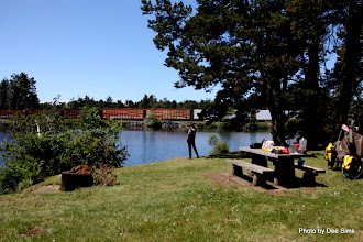 Photo: (Year 2) Day 353 -  Our Lunch Stop at a Lake with a Railway Through the Middle of the Lake #3